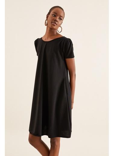 Quincey Cepli Elbise Siyah